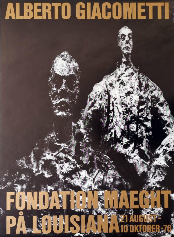 Giacometti udstilling på Louisiana. Original plakat fra 1976.