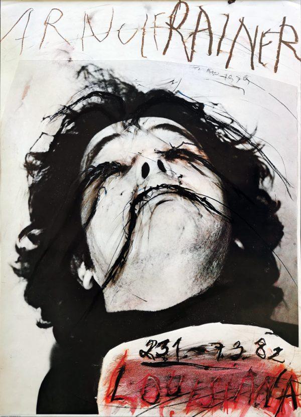 Arnulf Rainer på Louisiana. Plakat fra 1982.