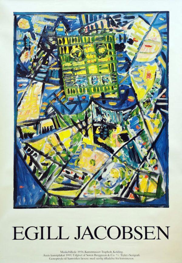 Egill Jacobsen Maskebillede. Kunstplakat udsendt af Samvirke i 1992.