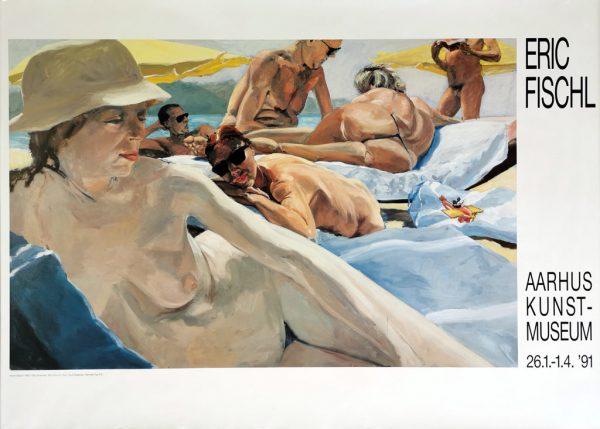 Eric Fischl, Noon Watch, original plakat fra Aarhus Kunstmuseum 1991