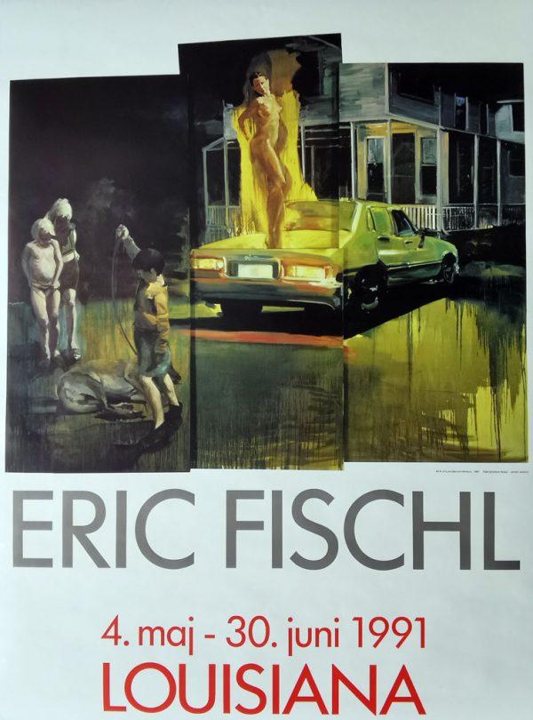Eric Fischl original udstillingsplakat fra Louisiana 1991