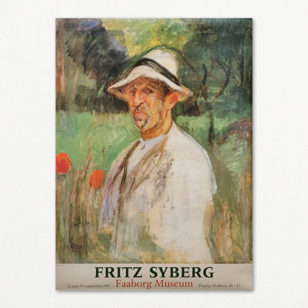 Original Fritz Syberg udstillingsplakat fra Faaborg Museum, 1992.