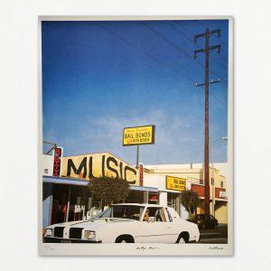 """Signeret litografi af Greg Fallows med titlen """"Betty's Music""""."""