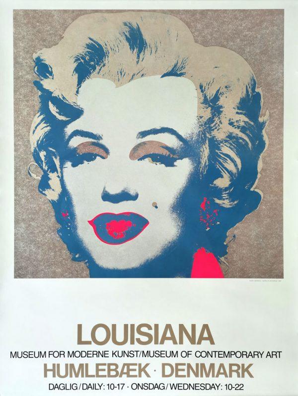 Andy Warhol. Original udstillingsplakat fra Louisiana.