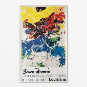 """Original plakat fra udstillingen """"Sam Francis fra Idemitsu Museet"""" på Louisiana 1986"""