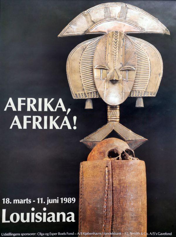 Afrika, Afrika! Original plakat fra udstilling på Louisiana 1989.