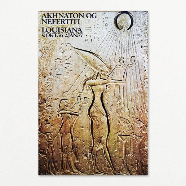 Akhnaton og Nefertiti 1 - original plakat fra Louisiana 1976.