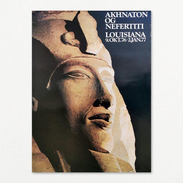 Akhnaton og Nefertiti 2 - original plakat fra Louisiana 1976.