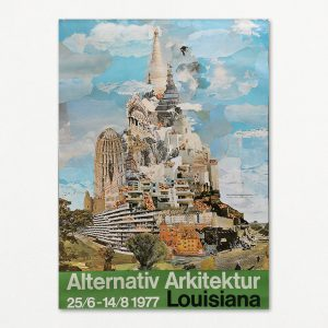 Alternativ Arkitektur, original vintage plakat fra Louisiana 1977.