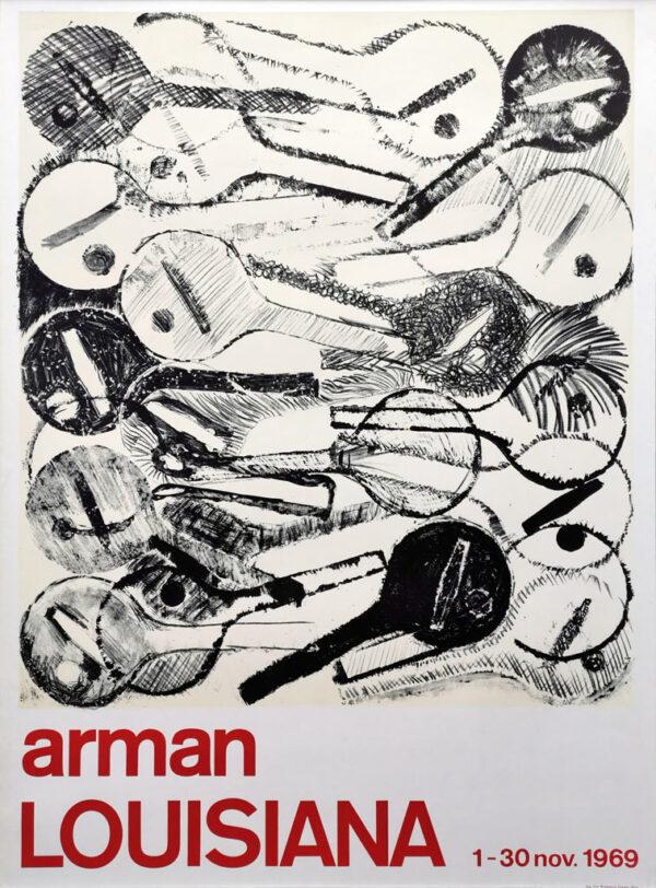 Arman (Armand Fernandez). Original plakat fra Louisiana 1969.