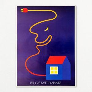 Original Per Arnoldi plakat: Brug el med omtanke.
