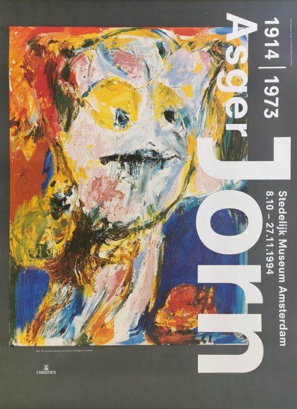 Asger Jorn, Bodil, 1961. Original plakat fra udstilling på Stedelijk Museum Amsterdam i 1994.