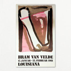 Bram van Velde original vintage plakat fra Louisiana