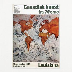 Original plakat fra udstillingen Canadisk kunst på Louisiana 1980.