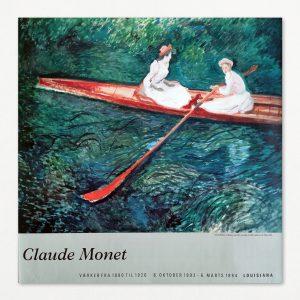 Claude Monet. Værker fra 1880 til 1926. Original udstillingsplakat fra Louisiana 1993-94