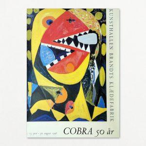 Cobra 50 år - Original plakat fra Brandts Klædefabrik 1998