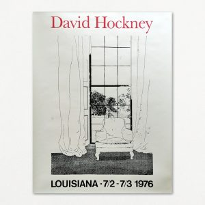 David Hockney original vintage plakat fra Louisiana 1976