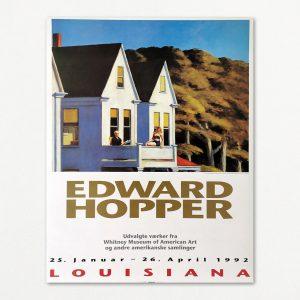 Original Plakat fra Louisiana med Edward Hopper, 1992