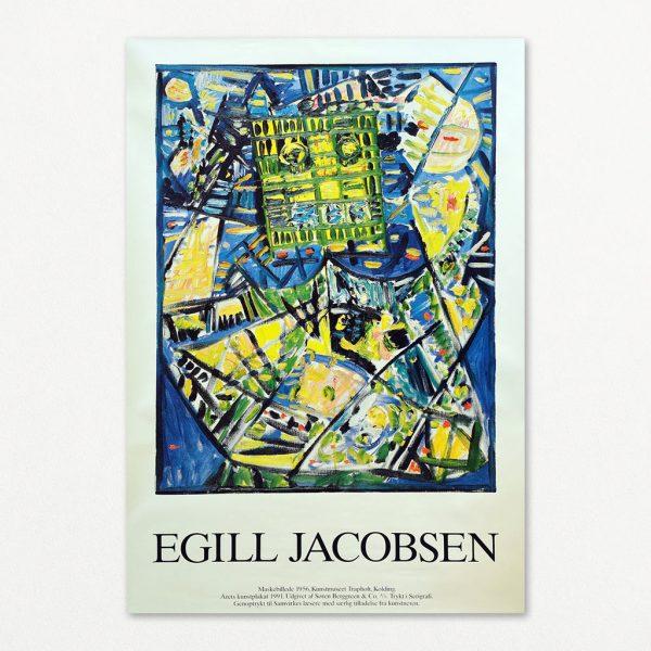 Egill Jacobsen Maskebillede. Plakat udsendt af Samvirke i 1992.