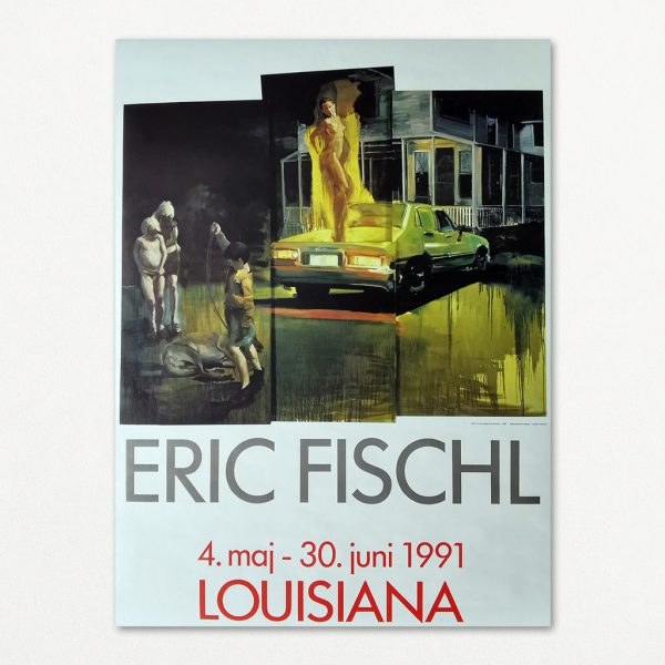 Eric Fischl original plakat fra Louisiana 1991.