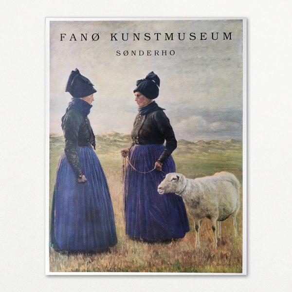Original plakat fra Fanø Kunstmuseum i Sønderho på Fanø.
