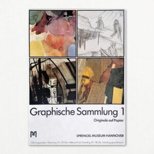 """Original plakat fra udstillingen """"Graphische Sammlung 1"""" på Sprengel Museum Hannover"""