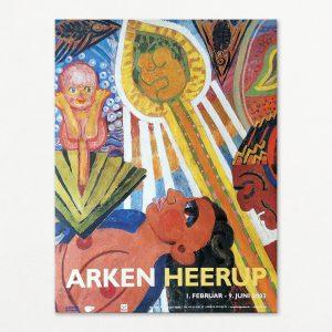 Henry Heerup udstillingsplakat Arken 2003.