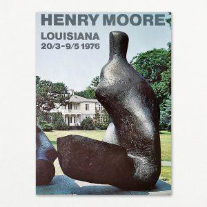 Plakat med skulptur af Henry Moore på Louisiana 1976.