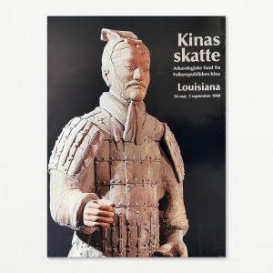 """Kinas skatte, terracotta-soldat. Original plakat fra udstillingen """"Kinas skatte"""" på Louisiana 1980."""