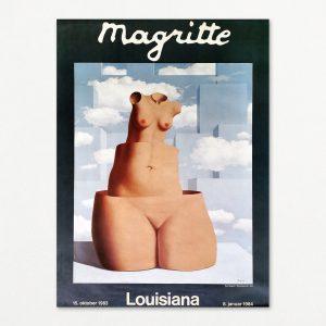 René Magritte, original plakat fra udstilling på Louisiana 1983