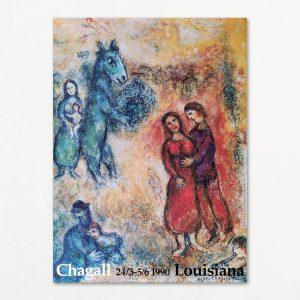 Chagall, original udstillingsplakat fra Louisiana 1990