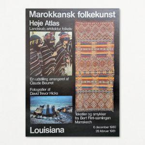 Vintage plakat fra Louisiana. Marokkansk folkekunst.