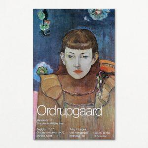 Original plakat med Gauguin på Ordrupgaard. Udgivet af Samvirke 1995.