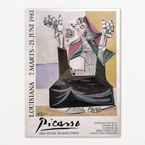 Picasso: Den bedende. Original udstillingsplakat fra Louisiana 1981.