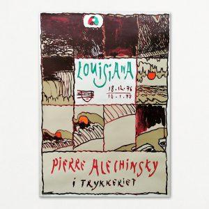 Pierre Alechinsky i trykkeriet, original Louisiana-plakat 1976