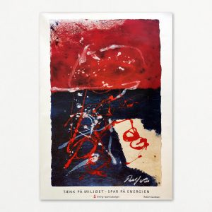 Robert Jacobsen original kunstplakat fra Energi-Spareudvalget 1992.