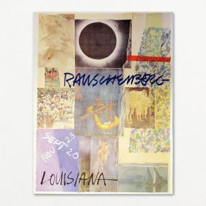 Robert Rauschenberg vintage plakat fra Louisiana 1980.