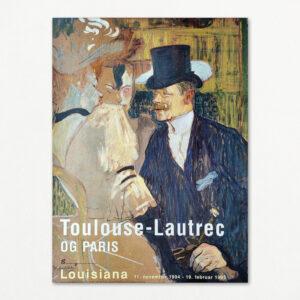 "Original plakat fra udstillingen ""Toulouse-Lautrec og Paris"" på Louisiana 1994."