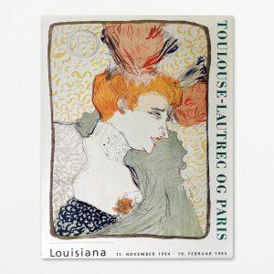 Toulouse-Lautrec - Mademoiselle Marcelle Lender. Original plakat fra udstilling på Louisiana 1994
