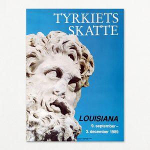 Tyrkiets skatte - Hoved af skægget mand - Original plakat fra Louisiana 1989