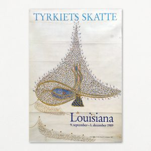 Tyrkiets skatte - Sultan Murad III's monogram - original plakat fra Louisiana 1989