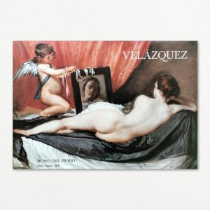 Original plakat med billede af Diego Velázquez, Museo del Prado 1990