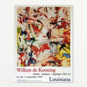 Willem de Kooning original plakat fra Louisiana 1983.