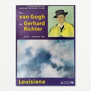 "Original plakat fra udstillingen ""Fra van Gogh til Gerhard Richter"" på Louisiana 1994"