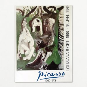 Picasso - Frokosten i det grønne. Original plakat fra udstilling på Louisiana 1988.