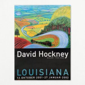 David Hockney: Garrowby Hill. Original plakat fra udstilling på Louisiana 2001-2002