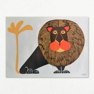Original plakat af Ingrid Hohmann: Løve