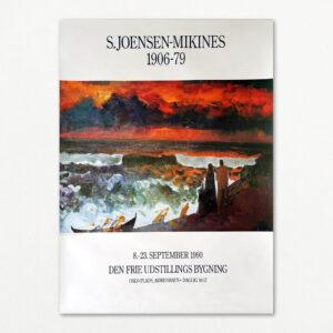 Original plakat med S. Joensen-Mikines fra Den Frie Udstillings Bygning 1990