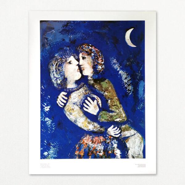 Marc Chagall - Les Amoureux. Offset litografi fra 1978.