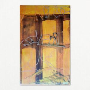 Per Kirkeby: Middagshede. Plakat nr. 3, DSB Seks årsplakater 1996.